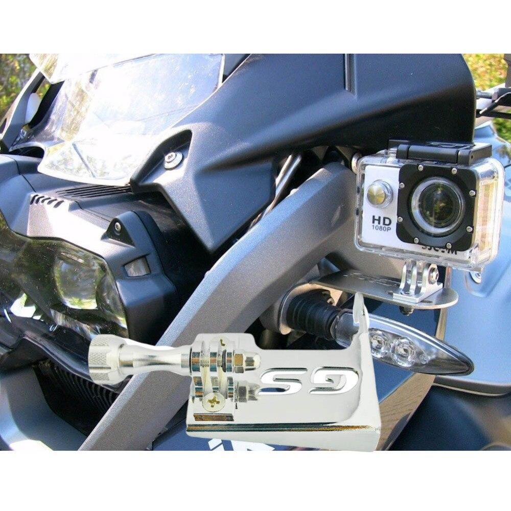 Motorcycle Parts Front Left Bracket for Go Pro Gopro Sj4000 Compatible Mount for BMW R 1200 GS 2013 2014 2015 2016 bz bz66 motorcycle frame bracket holder for gopro sj4000 black