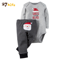 27 Kids Baby Clothes Autumn Girl Clothing Newborn Romper Pants 2pcs Outfits New Romper Cotton Bodysuit