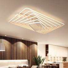 Горячий Новый дизайн Дистанционное затемнение современная светодиодная Люстра для гостиной спальня светодиодные плафоны белый квадратный современный люстры-украшения