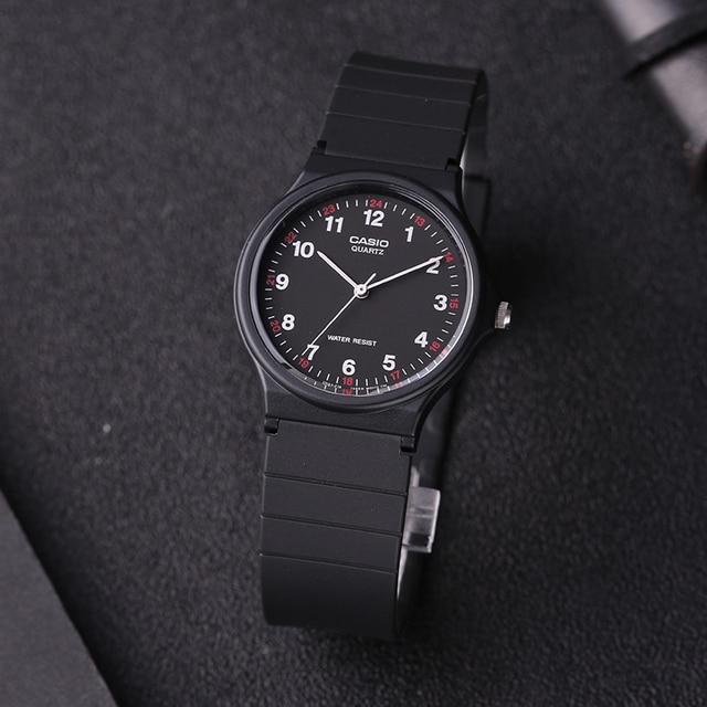 08b98f2fa36 Relógio Casio MQ-24-1B da Série Ponteiro Preto Dos Homens e Das Mulheres