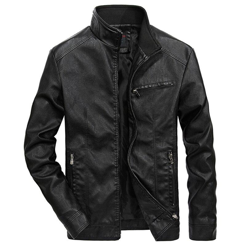 100% Wahr Männer Der Motorrad Bomber Leder Jacke 2019 Herbst Winter Outwear Pilot Faux Leder Jacken Business Casual Mantel Jaqueta 5xl