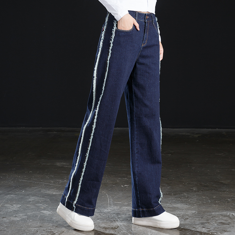 women wide leg pants side stripe for winter autumn