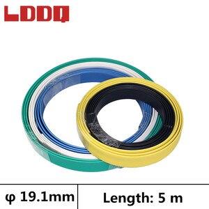 LDDQ 5m Heat shrinkable tubing with glue 3:1 19.1mm Heatshrink tube Waterproof Wire Wrap Cable sleeve guaina termorestringente