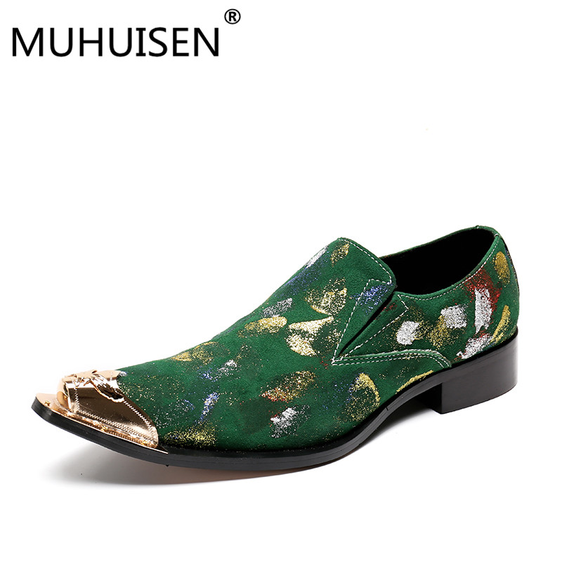 2018 brand Haopuvsen New Handmade Suede leather Men Wedding shoes Fashion loafers Luxury party men shoes men's flats size 37-47 2016 new fashion embroidery genuine leather man shoes handmade wedding and party male loafers men flats size 39 47 free shipping