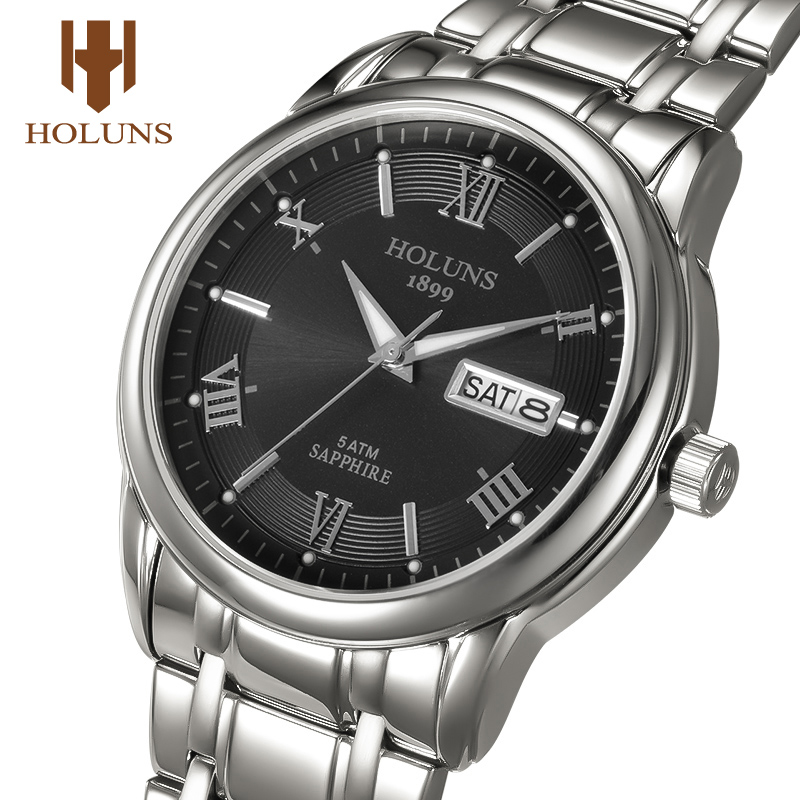 Relogio Masculino 2019 Holuns Classic Wrist Watch Men Top Brand Luxury Watches Quartz Stainless Steel Male