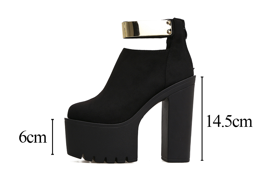 1a5e2dc94fc258 Gdgydh Brand Designer 2018 New Autumn Women Ankle Boots Platform ...