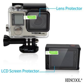 Para GoPro 4 Silver Hero 4 Protector de pantalla LCD Ultra clara + película protectora de lente de carcasa de cámara para accesorios Go pro