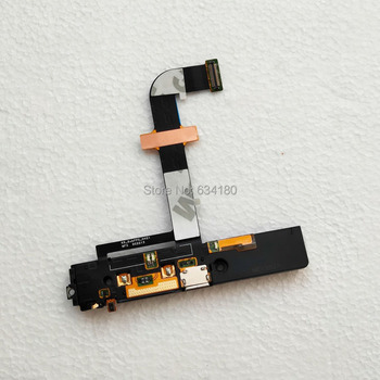 For Lenovo K900 Dock Connector USB Charger Port Loudspeaker Headphone Flex Cable with inner loud speaker module