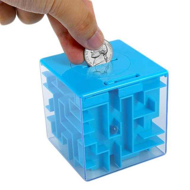 3D Cube Puzzle Maze  Money Box Coin Box Cash Saving Box Piggy Bank Coins Storage Box Brain Storm Game Kid Toy Gift