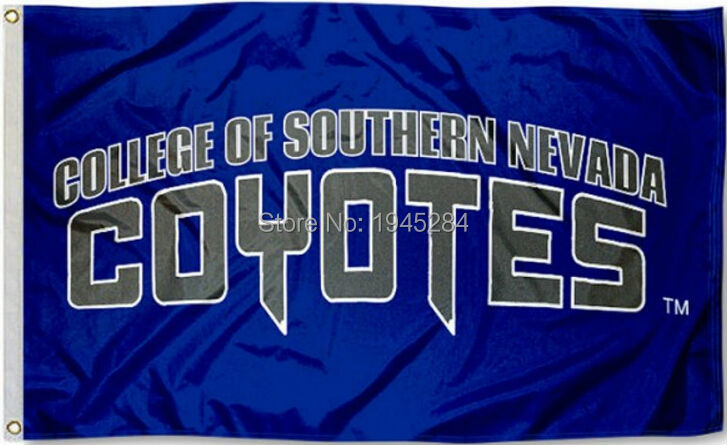 Southern Nevada Coyotes Wordmark Flag Banner New 3x5FT 90x150CM New Polyester NCAA 8899, free shipping