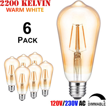 E27 Réglable W 6 Ampoule 60 4 8 240 St64 Filament Watts 220 Lampe 230 Volts Incandescence Led Intensité Égale Edison 25 40 À HW29EDIY