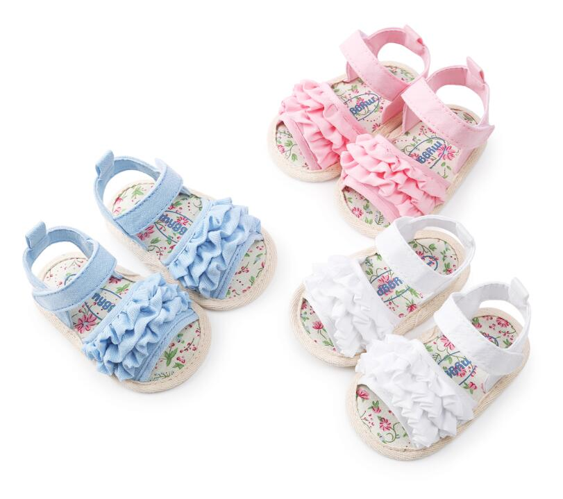 0-18M Newborn Baby Flower Style Summer Baby Shoes Kids Girls Infant Soft Sole Shoes First Walker Toddler Moccasins