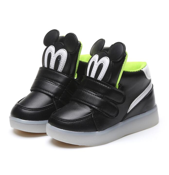 Children Shoes With Light Chaussure Led Enfant Spring Autumn New Cartoon Led Girls Shoes Sports Glowing Boys Sneakers Shoes