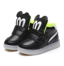 Crianças Sapatos Com Luz Chaussure Enfant Led Primavera Outono Novo Sapatos Meninas Esportes Dos Desenhos Animados Led Glowing Meninos Sapatilhas Sapatos