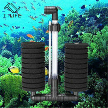 TTLIFE Aquarium Fish Tank Bio-Sponge Filter Discus Air Driven Sponge Hang on Pond Accessories