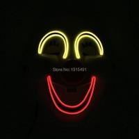Высококачественные модные вечерние EL провода светящийся маска праздник освещения Световой улыбка Косплэй полный маска по 3 В для фестиваля