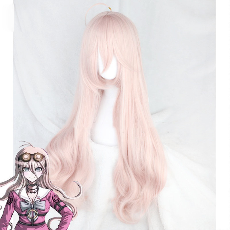 <font><b>DanganRonpa</b></font> <font><b>Cosplay</b></font> Wig Miu Iruma Costume Play Woman Adult Wigs Halloween Anime Game Hair free shipping + wig cap image