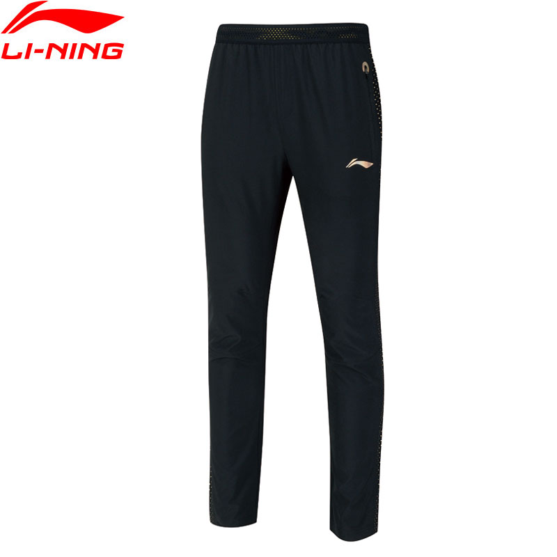 Li Ning Men Badminton Series Pants Regular Fit 92 Polyester 13 Spandex National Team LiNing Sports