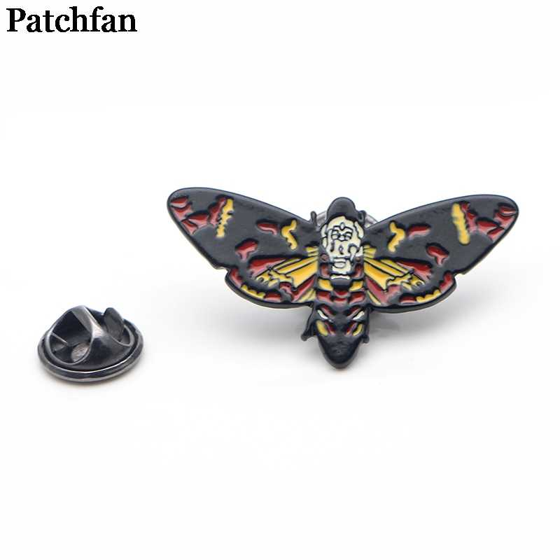 Patchfan Silence of the Lambs bee Zinc alloy pins badges para shirt bag clothes cap backpack shoes brooches badges medals A1951