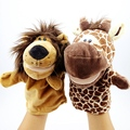 Baby Glove Toy Animal Hand Puppets Plush Toys Wooden Dolls Puppet For Kids Baby Glove Animal Hand Puppets