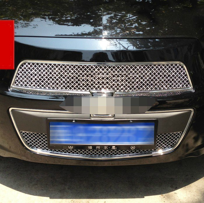 High quality stainless steel Front Grille Around Trim Racing Grills Trim For 2011 AVEO