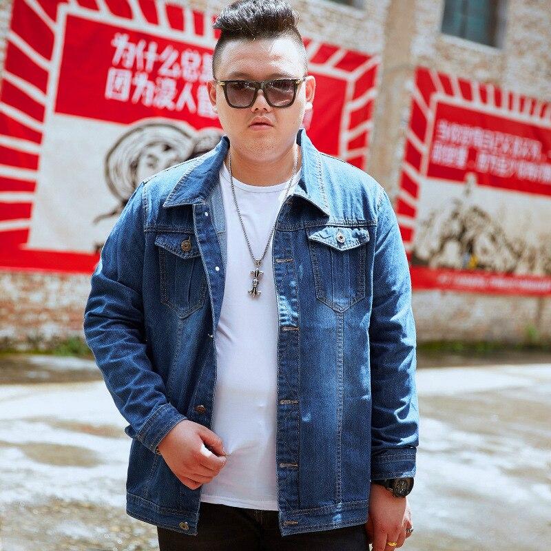 d075c925a691683 Мужская джинсовая куртка с длинным рукавом, большие размеры XL, 8XL 7XL 6XL  5XL 4XL