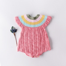 Knitting Body for Newborns Spring Autumn Cotton Baby Girl Bodysuits Fashion Cute Soft Girls Clothes Newborn Outfit