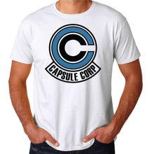 Dragonball Dragon Ball Z Capsule Corp Logo Anime Gym Training White T-Shirt Free shipping  Harajuku Tops t shirt Fashion цены