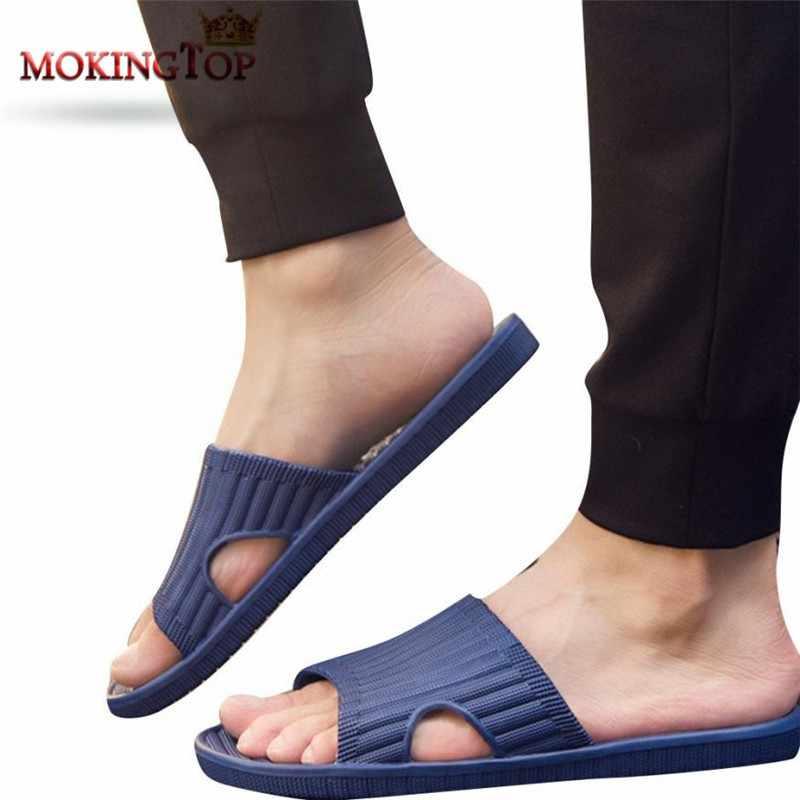 60481e58f31cf2 MOKINGTOP Anti-slip Englon slippers mens flip flops slippers man home shoe  Sandals Slipper indoor