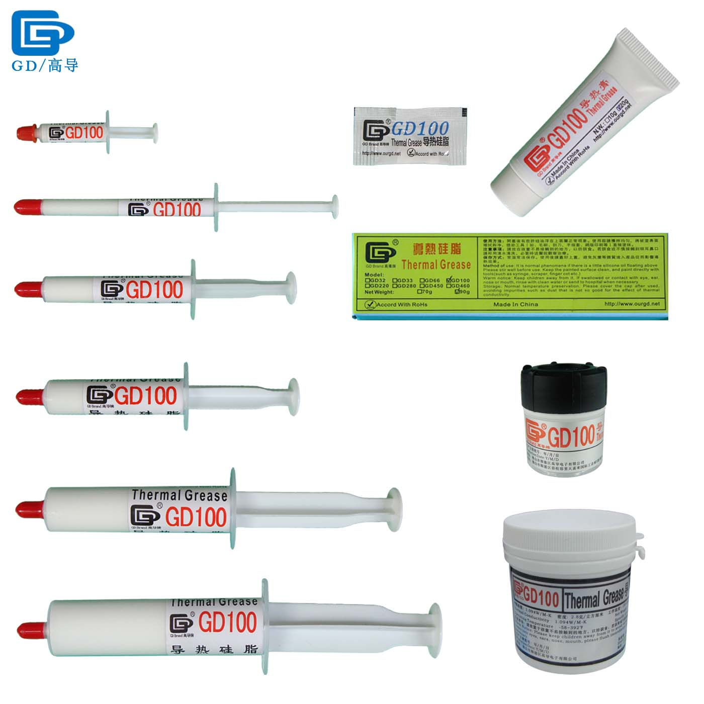 GD100 Thermal Paste Grease Silicone Gesso Dissipatore di calore composto bianco per CPU SSY1 SY1 SY3 SY7 SY15 SY30 MB05 CN20 CN150 ST20 ST90