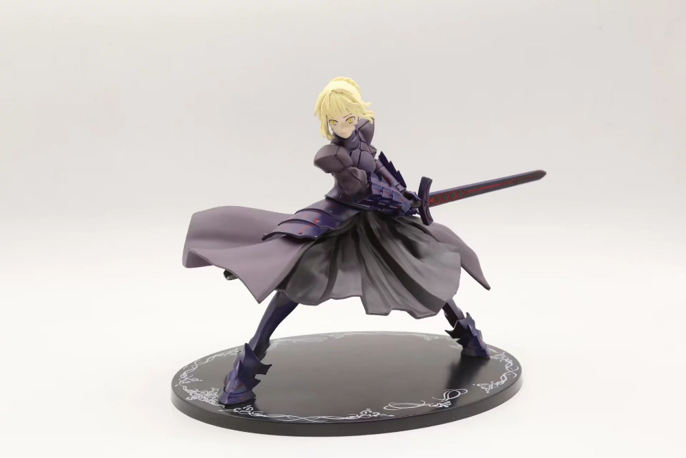 Huong Anime Figure 20CM Fate/Stay Night Saber Alter Fighting Ver. PVC Figure Colletible Model Toy Gift fate stay night zero saber alter vodigan ver 18cm mask hammer sword toys cartoon pvc action figure c100