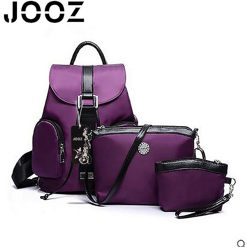 JOOZ Brand Luxury Nylon Female Handbag Lady Messenger Bags 3 Pcs Composite Bags Set Women Shoulder Crossbody Bag Clutches Purse