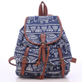 Vintage Women's Canvas Travel Rucksack Hobo printing School Bag Satchel Bookbags Retro chic casual female Backpack Baok-876