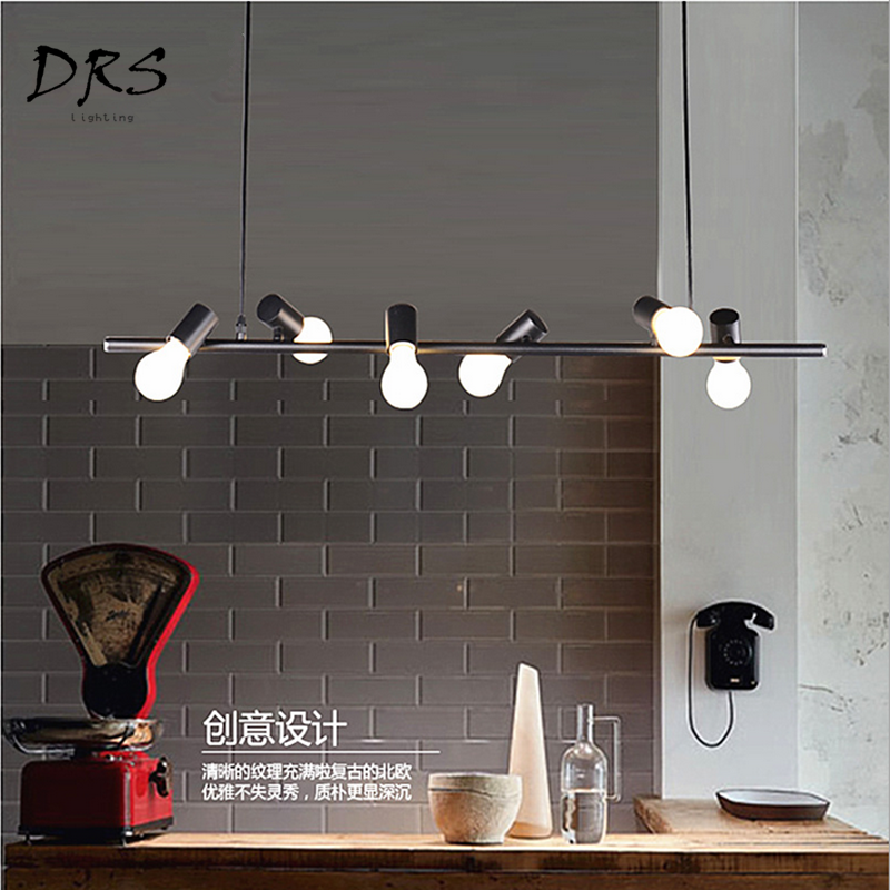 Simple Bar Restaurant Chandelier New Designer Creative Art Modern Iron LED Lustre Pendant Lamp Lights Suspension Luminaire E27Simple Bar Restaurant Chandelier New Designer Creative Art Modern Iron LED Lustre Pendant Lamp Lights Suspension Luminaire E27