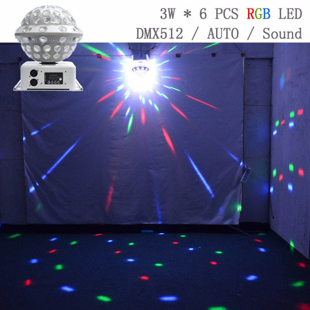 AUCD RGB Colorful LED Crystal Light Big Magic Ball AUTO Rotated Sound DMX Disco DJ KTV Party Home Stage Lighting MB-2 mini rgb led crystal magic ball stage effect lighting lamp bulb party disco club dj light show lumiere
