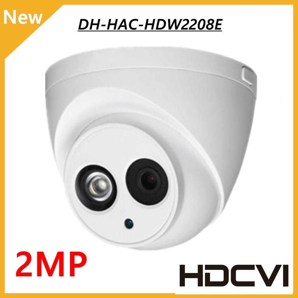 DH HDCVI DOME Camera 1/2.8 2Megapixel CMOS 1080P IR 50M IP67 HAC-HDW2208E DH cctv security camera dahua coaxial camera dahua outdoor indoor hdcvi camera dh hac hdw1100e 1mp hd network ir security cctv dome camera ir distance 40m hac hdw1100e ip67