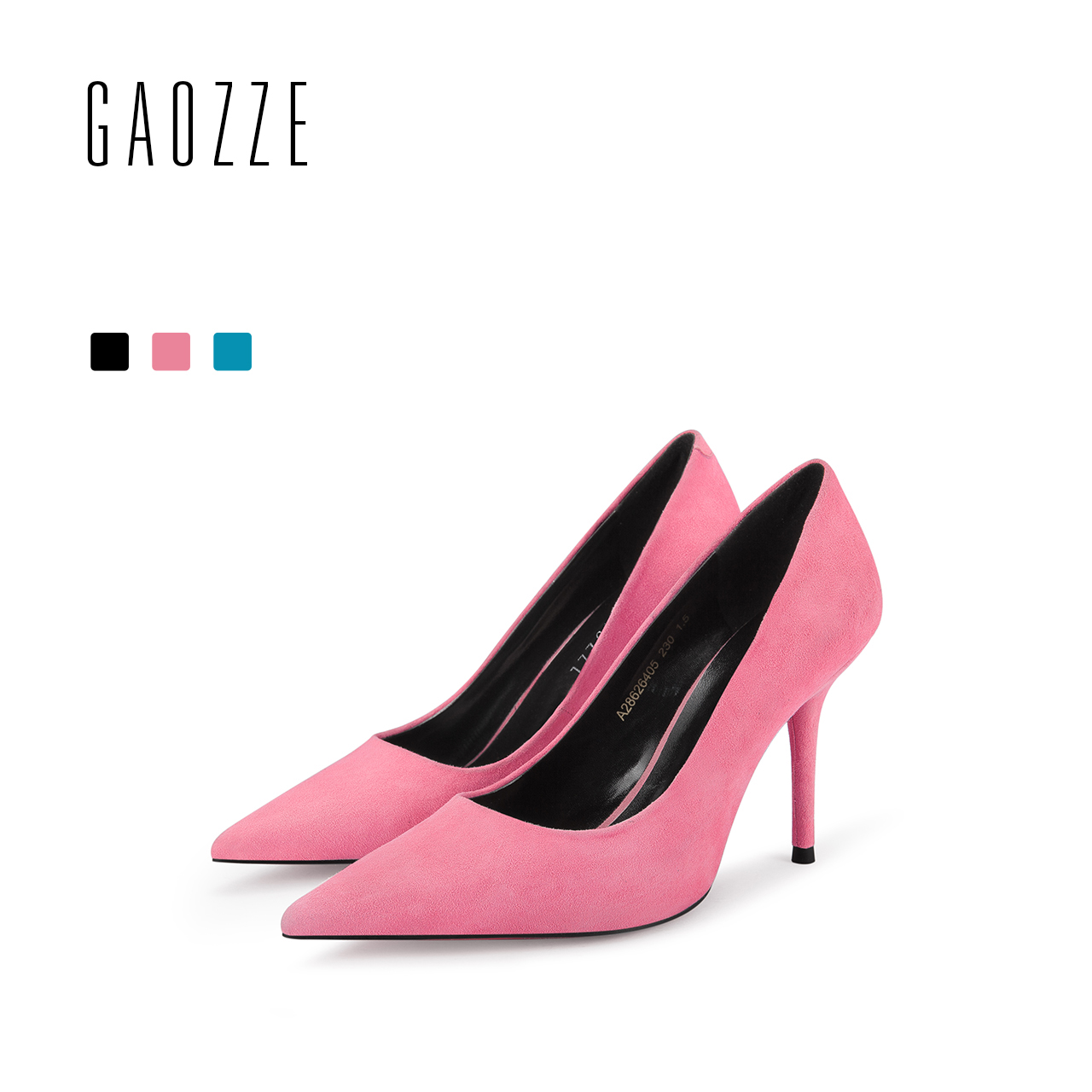 GAOZZE Suede Leather Women Shoes Pointed Toe Pumps Fashion Sexy Stiletto High Heels Women Classic Office Pumps Shoes 2018 Spring classic fashion women s club banquet wedding shoes sexy suede zipper 17 cm in stiletto heels