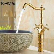 torneiras banheiro洗面銅金の蛇口真鍮ホット&コールドヴィンテージプロモーションcozinha 送料無料高級torneira DONA4017