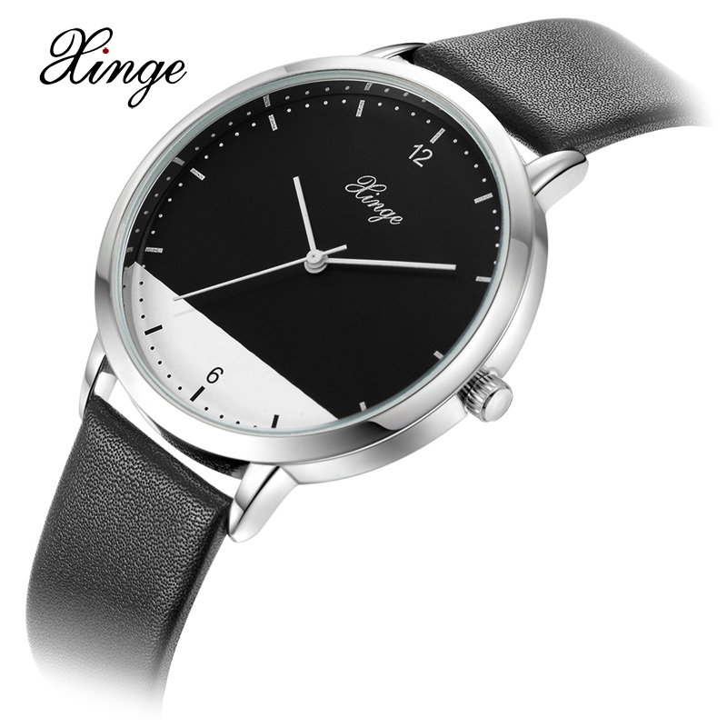 Xinge Top Brand Luxury Leather Strap Military Watches Male Sport Clock Business 2017 Quartz Men Fashion Wrist Watches XG1080 oubaoer fashion top brand luxury men s watches men casual military business clock male clocks sport mechanical wrist watch men