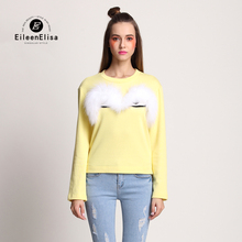 Luxury Sweaters High quality Pullover 2017 Fashion Designer Runway Women Fur Big Eye Sweater