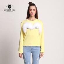 Luxury Sweaters High quality Pullover 2017 Fashion Designer Runway Women Fur Big Eye Sweater