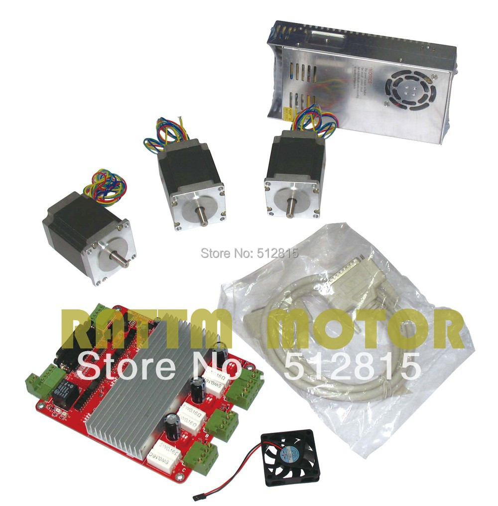 все цены на 3 axis CNC kit 3 NEMA23 270 oz-in stepper motor + 3 axis CNC board