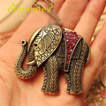 DIOMEDES Creative Women Elephant Crystal Vintage Retro Long Necklace Jewellery Pendant Accessories Sexy Chain