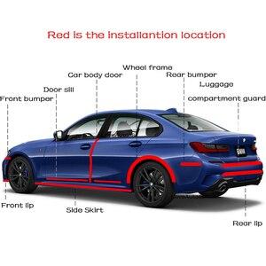Image 5 - Автомобильные бамперные полосы, дверные пороги, защитные края, автомобильные наклейки, Стайлинг автомобиля, наклейки для Toyota Auris, автомобильные аксессуары