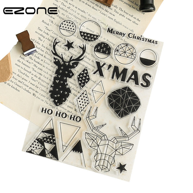 ezone creative badge christmas animals transparent stamp seal xmas stamp scrapbooking diy christmas decoration office supply - Office Supply Christmas Decorations