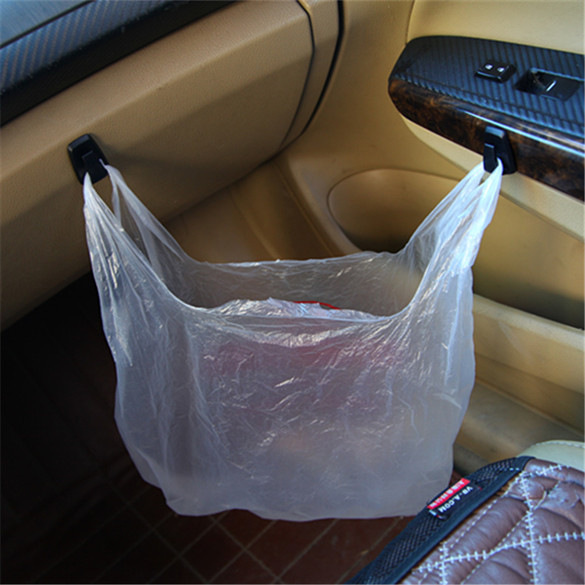 3 Pcs Mini Car Hook Hanger for hanging plastic bag