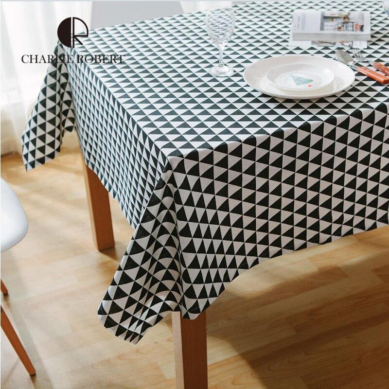 nordic coffee table cloth rectangul black white linen. Black Bedroom Furniture Sets. Home Design Ideas