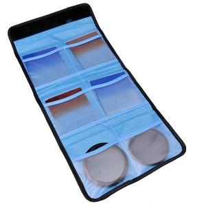 Image 2 - Bolsa de filtro de lente de cámara bolsa de transporte cartera para filtros de 49mm 82mm 3 bolsillos 6 bolsillos para canon nikon sony dlsr cokin p series
