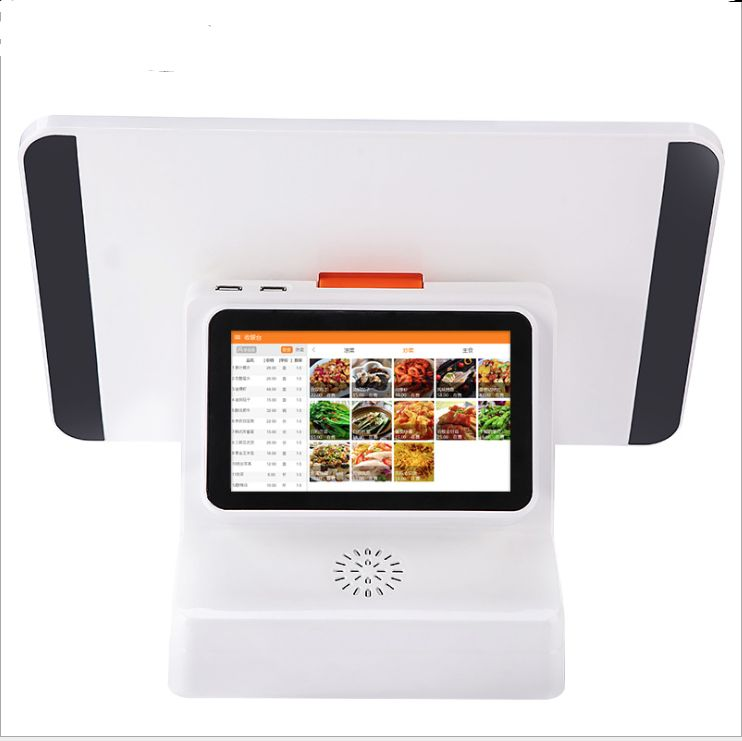 15.6 Inch Dual Screen 5 Wire Resistive Touch Screen All In One POS With