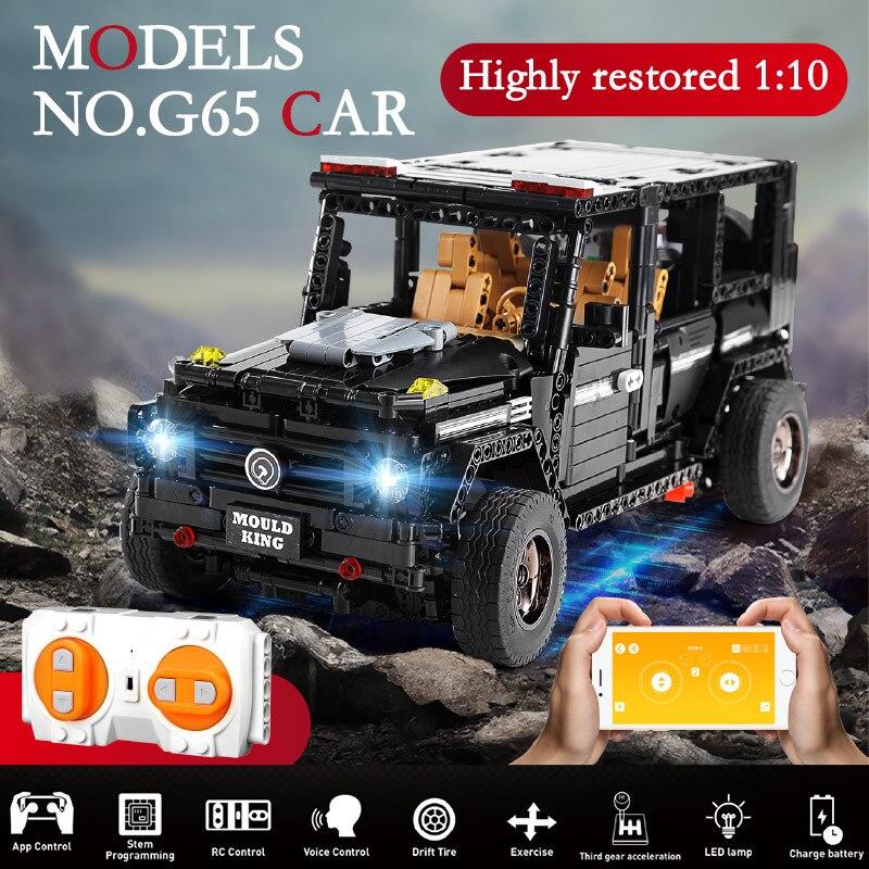 Oyuncaklar ve Hobi Ürünleri'ten Bloklar'de 1641 adet APP 1:10 RC G Cam G65 AWD Vagon SUV Araç Fit Yapı Taşı Uzaktan Kumanda Şehir Teknik tuğla Çocuk Oyuncakları'da  Grup 1